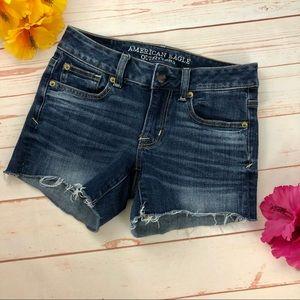 American Eagle Shortie Jean Shorts